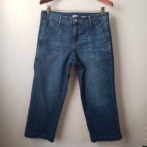 NWT OLD NAVY WIDE LEG CROPPED JEANS SZ 10 PETITE
